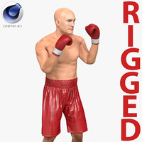 boxer man rigged 2 3d c4d