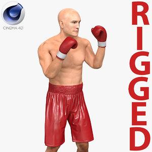 boxer man rigged 2 3d c4d