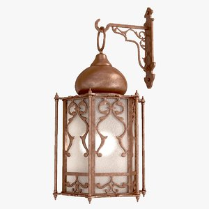 arabic wall lamp 3d model