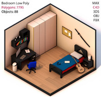 3d bedroom bed