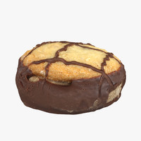 chocolate cookie 3d max