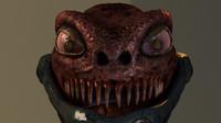 3d alien render model