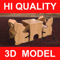3d child seat bear kids