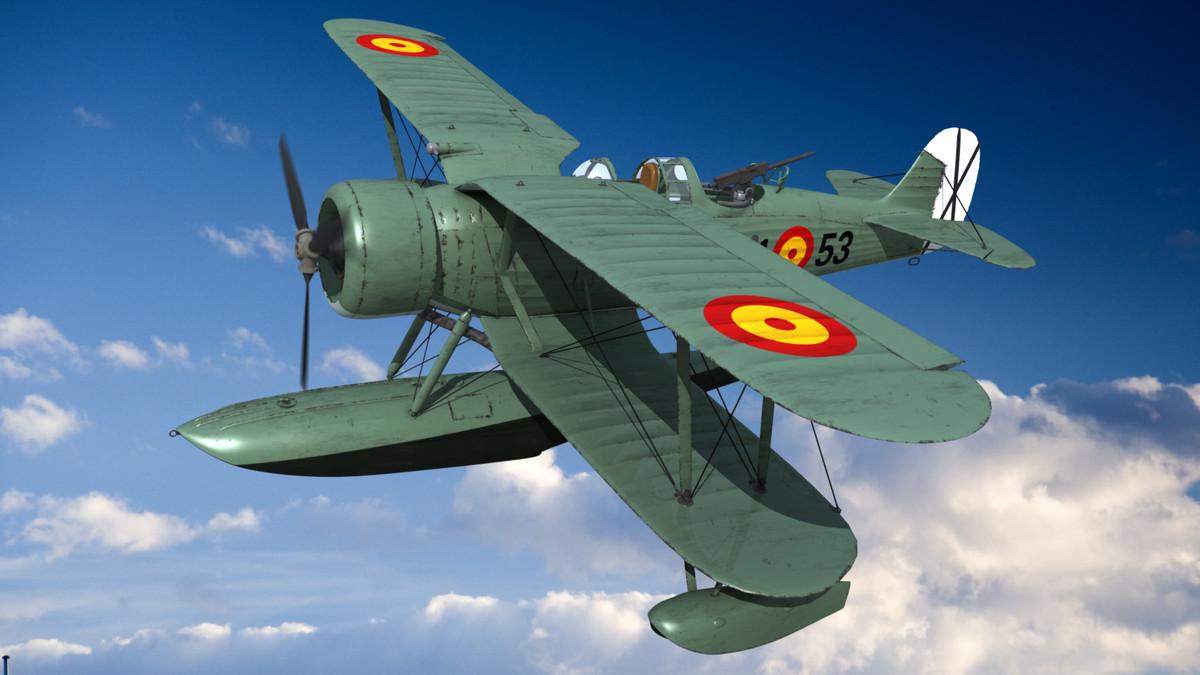 aircraft airplane seaplane obj