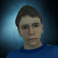 rigged realistic human male character 3d model