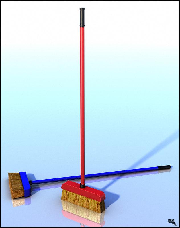 3d broom cartoon toon