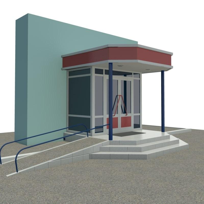 entrance store porch 3ds
