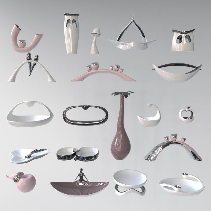 3d model statuettes ceramics