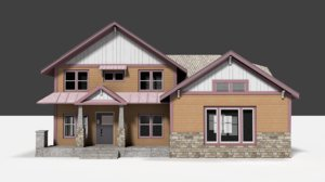 3d house building asset model