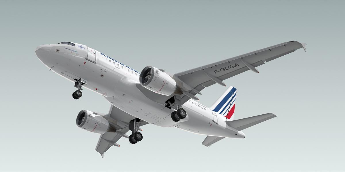 3d a318-100 plane air france