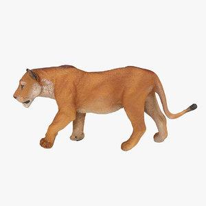 3d model lioness lion