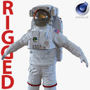 Extravehicular Mobility Unit Rigged for Cinema 4D