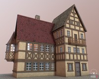 3d model german house