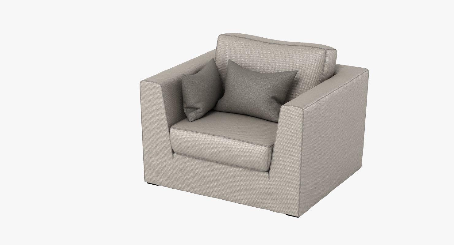 machalke armchair 3d x