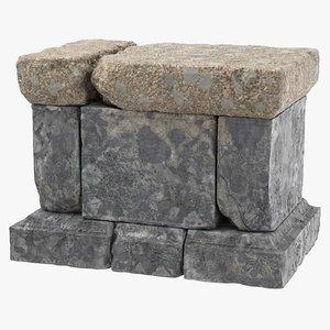 rock altar 01 c4d