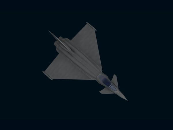 eurofighter fighter obj