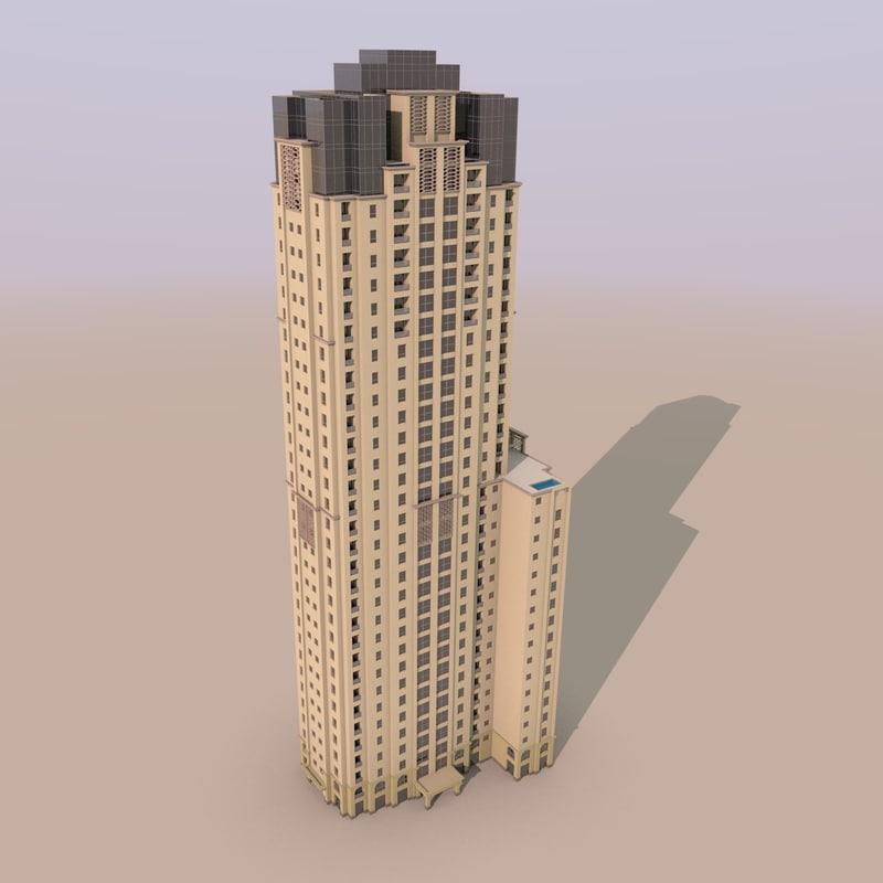 jumeirah beach residence murjan 3d model