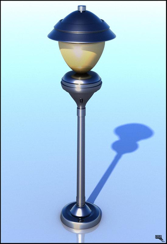 3d cartoon toon lamp model