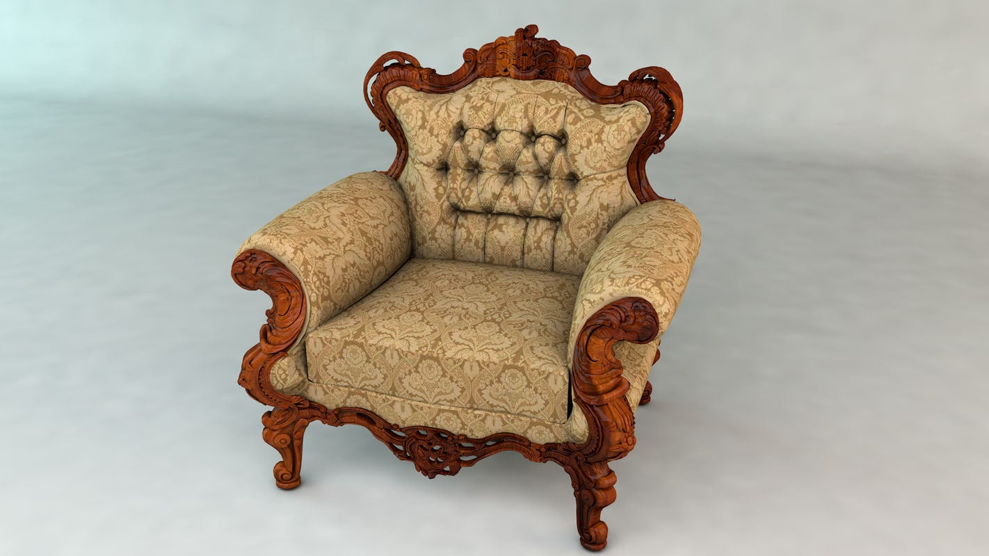 3ds old armchair