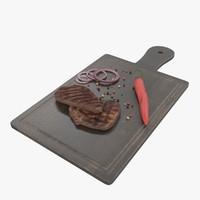 3d model steak board