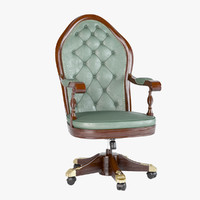 chair classic leather 3d max
