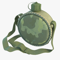 military canteen 3d model