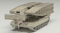 3d model m60 avlb tank