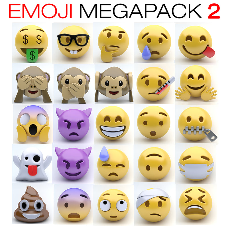 emoji 2 3d max