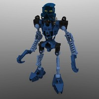3d lego bionicle gali - model