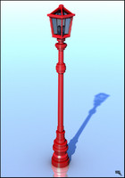 Red Street Lamp