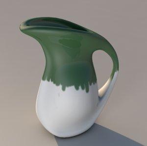 pitcher water 3d x