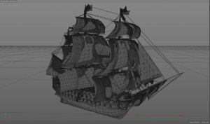 3d model old ship hms victory