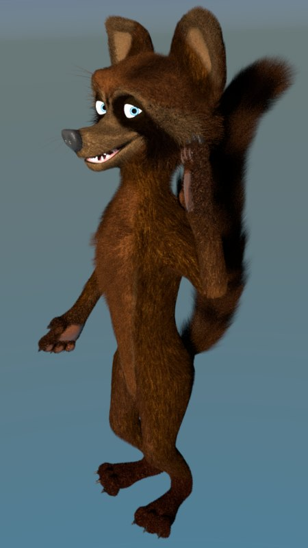 racoon animation blend