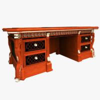 3d desk drawer wood model