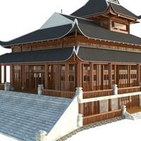 3d pagoda realistic model