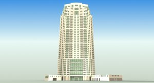 century los angeles skyscraper 3d model