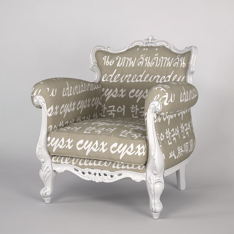 creazioni alice armchair 3d model
