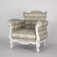 creazioni alice armchair 3d model
