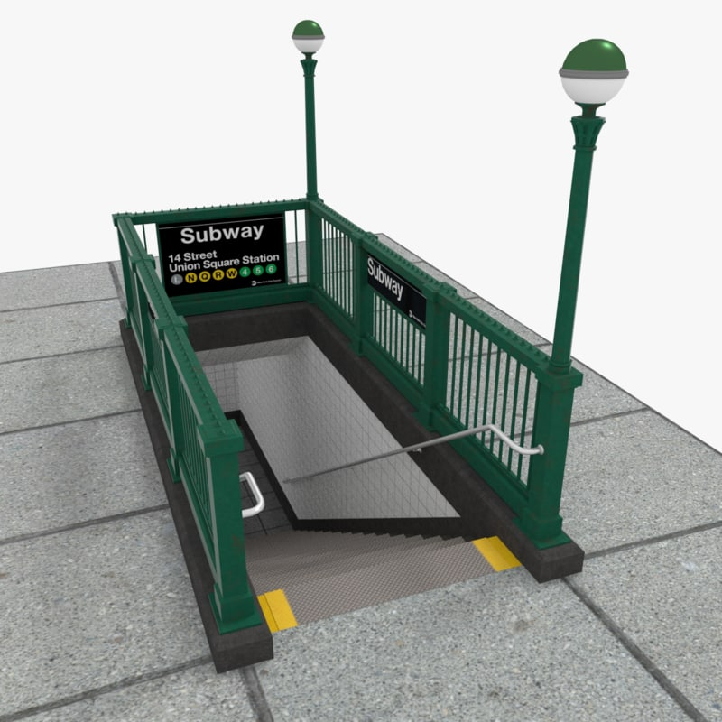 x new york subway entrance
