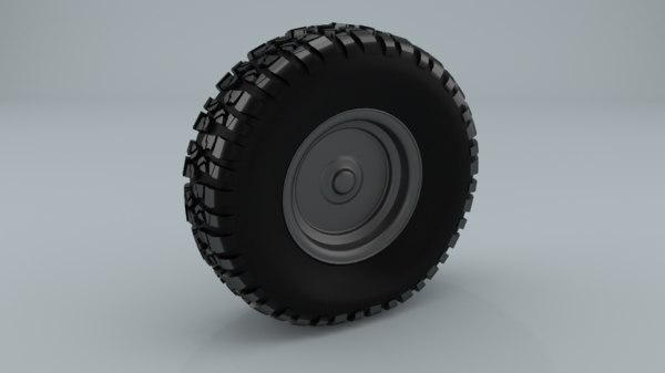 3d realistic offroad 4wd wheelset