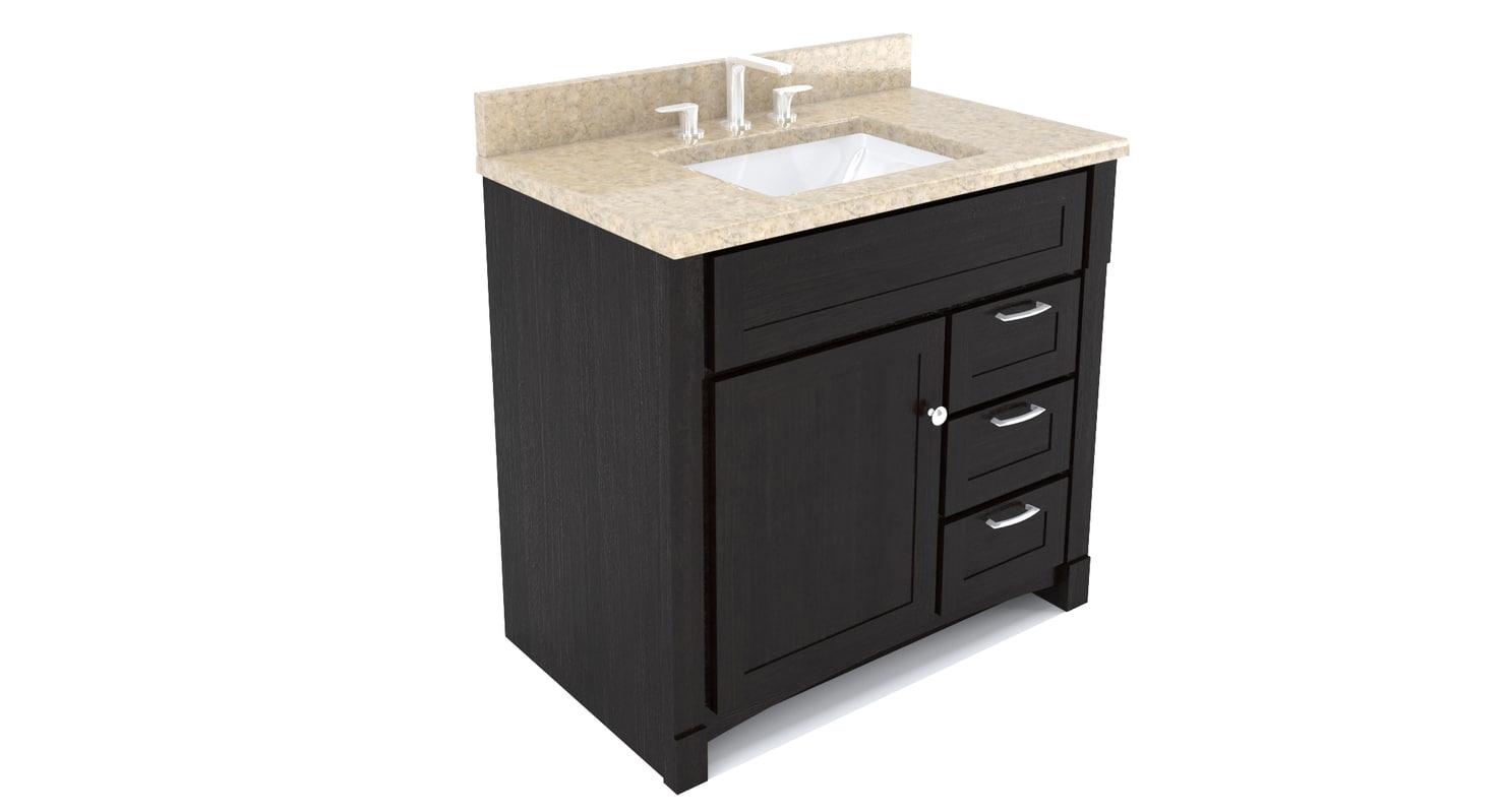 bathroom vanity 3d 3ds