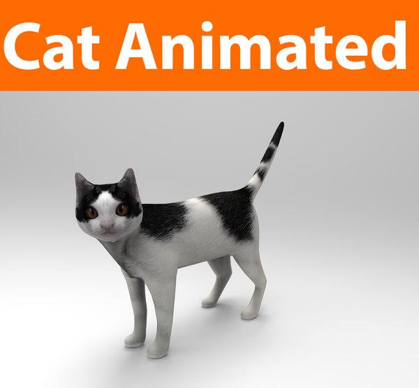 obj cat animations