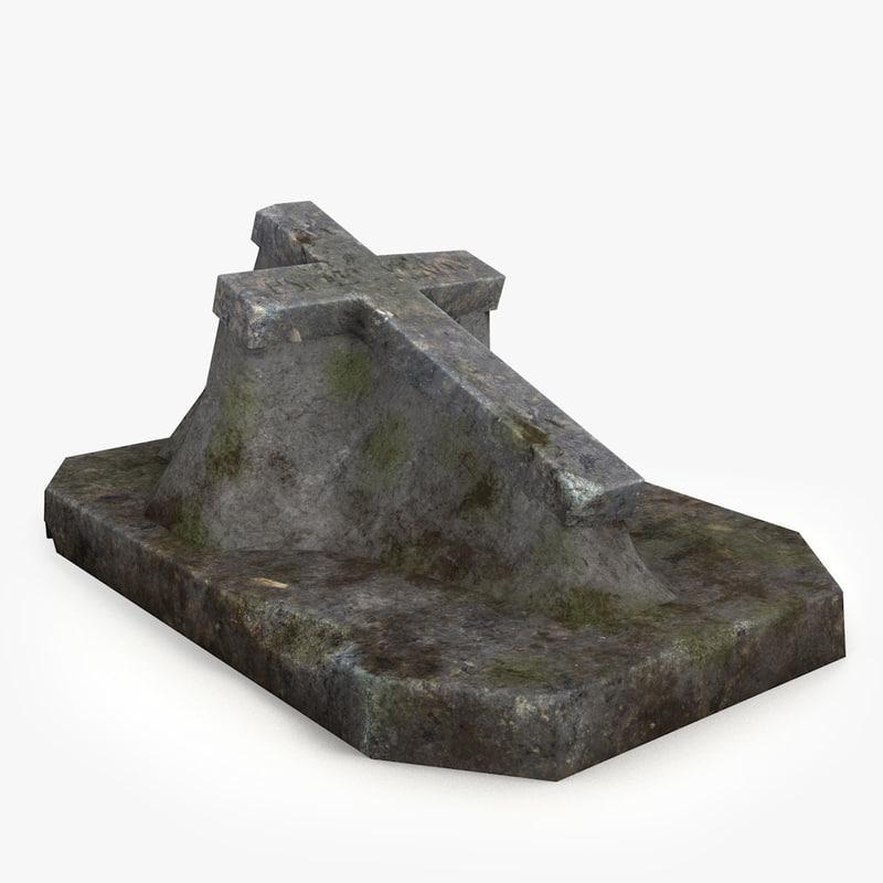gravestone ready unity 3d model