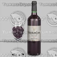 3d 3ds wine - mouton cadet