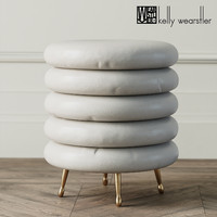 3d pouf laurel stool kelly