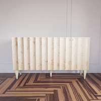 hand painted fluted cabinet 3d max