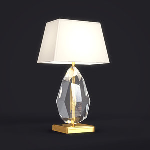 chrystal table lamp dxf