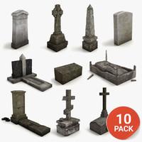 Lowpoly Gravestone 10 Pack vol1