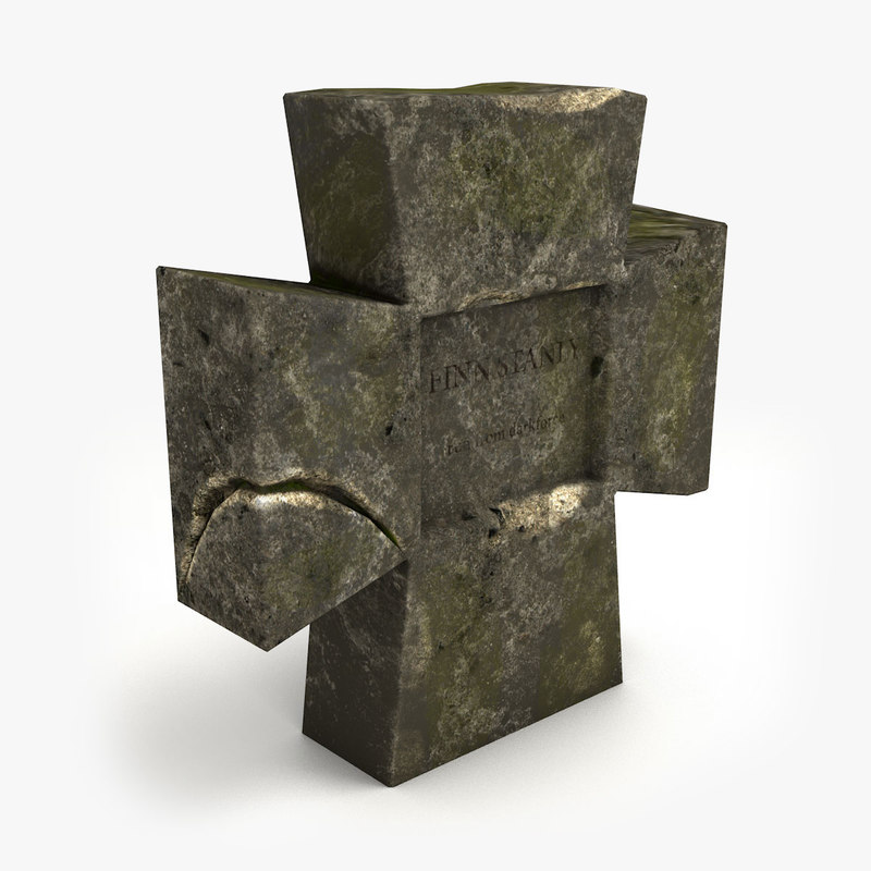 3d model gravestone ready unity