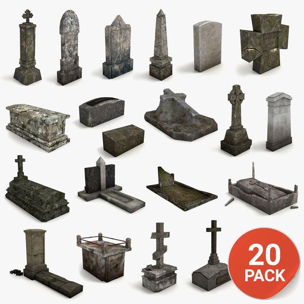 3d gravestone 20 model